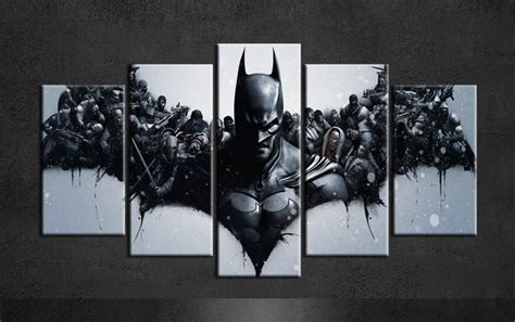 art posters for sale hot sale batman painting canvas art posters group of 5