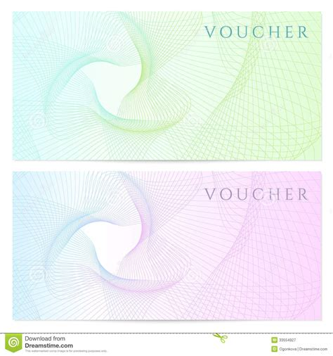 watermark template gift certificate voucher coupon template color royalty