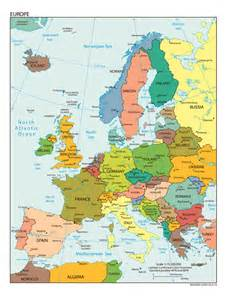 Large Map Of Europe by Large Detailed Political Map Of Europe With All Capitals