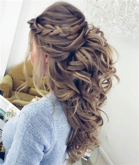 curly hairstyles updos braids 50 half up half down hairstyles for everyday and party looks