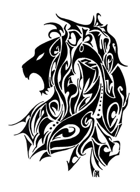 black lion tattoo designs awful black tribal design