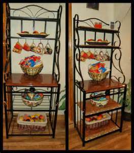 What To Put On A Bakers Rack Iron Baker S Rack From Ugh To Ah Redo It Yourself