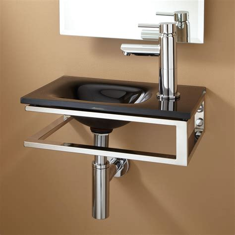 bathroom sink hardware signature hardware bangor wall mount glass sink ebay