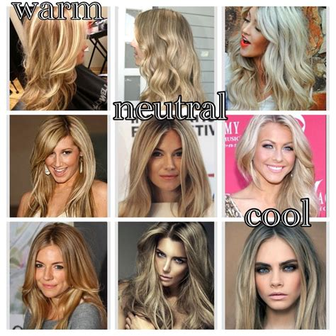 hair color for cool skin tones best chart for blonde the difference between warm neutral and cool blonde tones