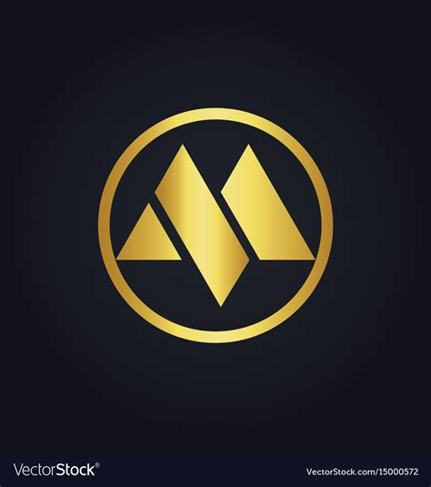 roundhouse stock images royalty free images vectors round letter m gold logo royalty free vector image