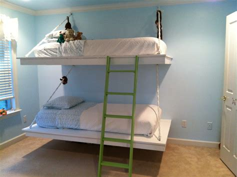 hanging loft bed ana white hanging bunk beds diy projects