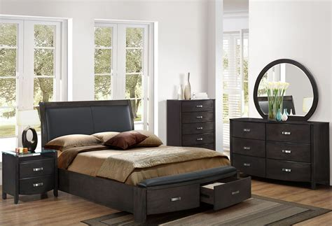panel bedroom set lyric grey storage upholstered panel bedroom set 1737ngy