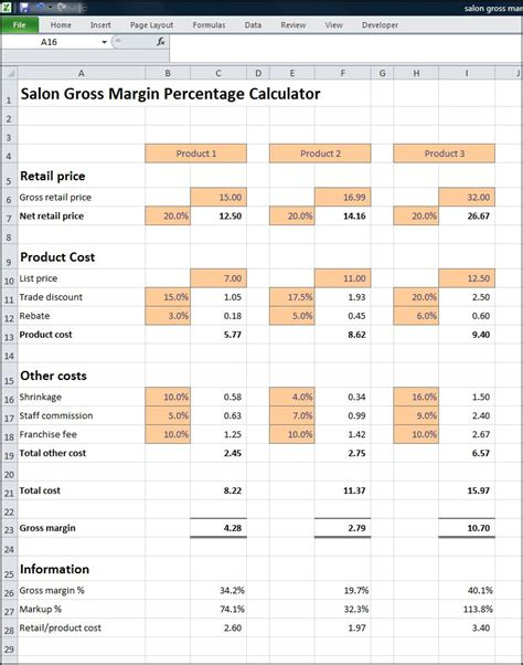 margin calculator excel template 301 moved permanently