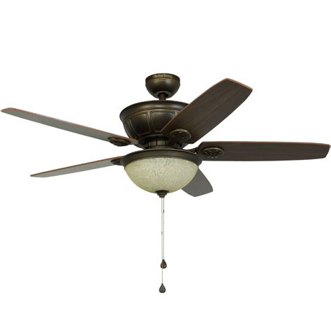 Harbour Ceiling Fan by Shop Harbor Newhaven 48 In Light Rubbed Bronze