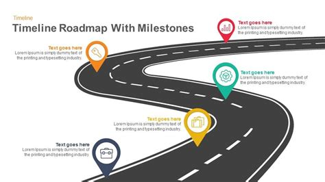 powerpoint milestone template timeline roadmap with milestones keynote and powerpoint