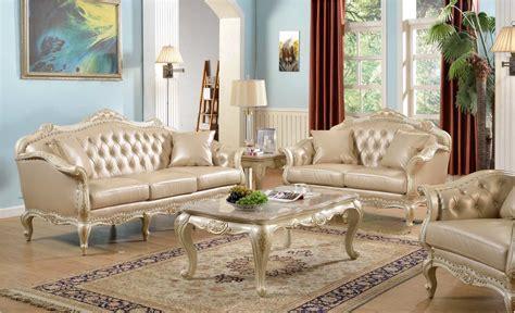 traditional antique white formal sofa set  nail head