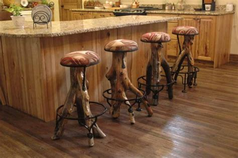 Cool Wood Bar Stools by Rustic Bar Stool Height Tedxumkc Decoration