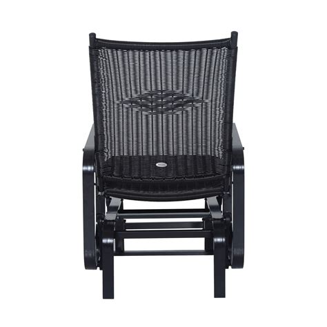 Black Wicker Rocking Chair Outdoor by Outsunny Outdoor Antique Aluminum Wicker Gliding Chair