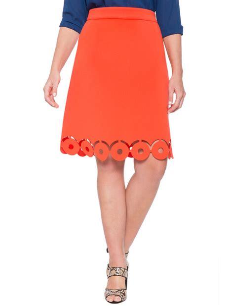 laser cut hem a line skirt s plus size skirts