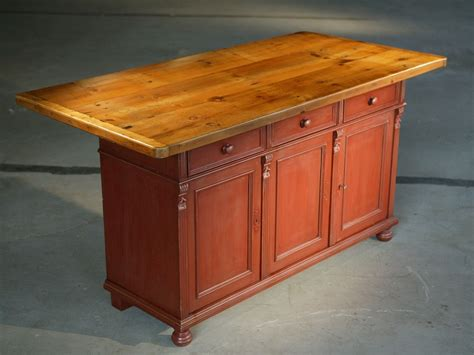 kitchen islands island europa made of northeastern custom made european sideboard in barn red with 6ft table