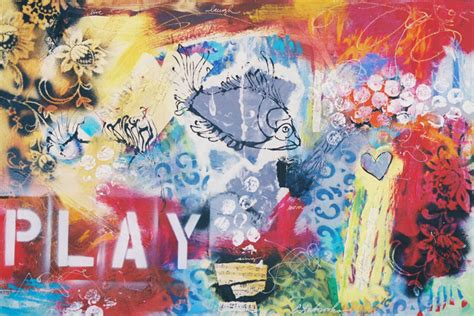 spray painting play play by donna estabrooks 865 24x36 acrylic collage