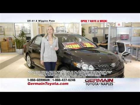 Germain Toyota Naples Fl Germain Toyota Of Naples Germain Has A Deal For