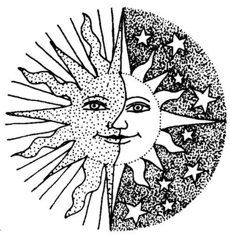 coloring pages for sun moon and stars sun and moon pattern pattern sun and moon pinterest