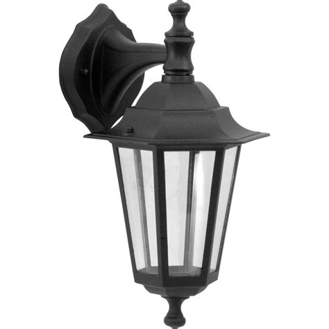 Outdoor Lighting Lantern Style Style Hanging Lantern Black 60w Es Toolstation
