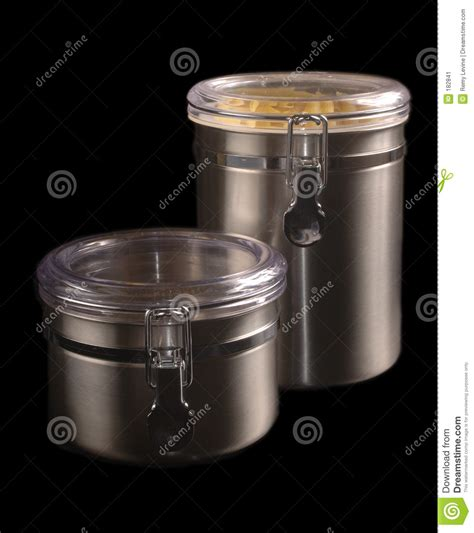 stainless steel kitchen storage canister stainless steel kitchen containers stock image image of