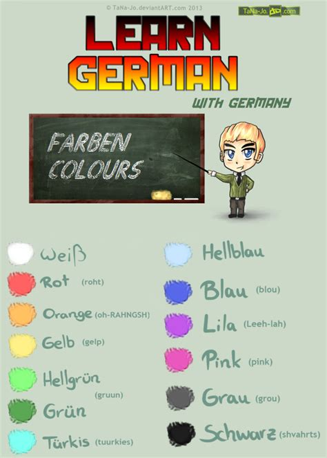 how do you say colors in learn german colours by tana jo on deviantart