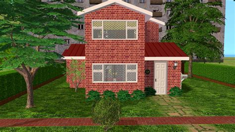 red brick house sims 2 creations by tara red brick house