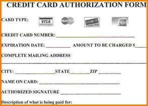 Authorization Letter For Credit Card Purchase credit card authorization form credit card authorization form template