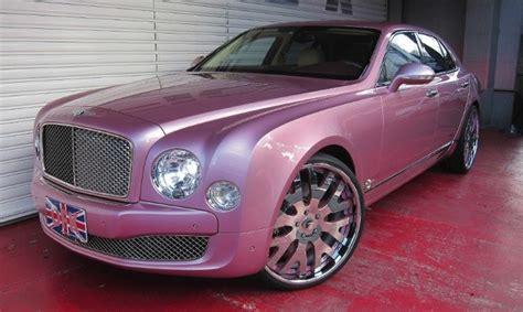 bentley mulsanne on 24s pink bentley mulsanne gets forgiato 24s from office k
