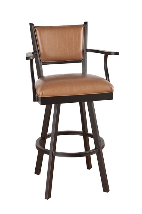 Padded Bar Stools With Backs And Arms by Callee Carolina Metal Swivel Stool Upholstered Seat