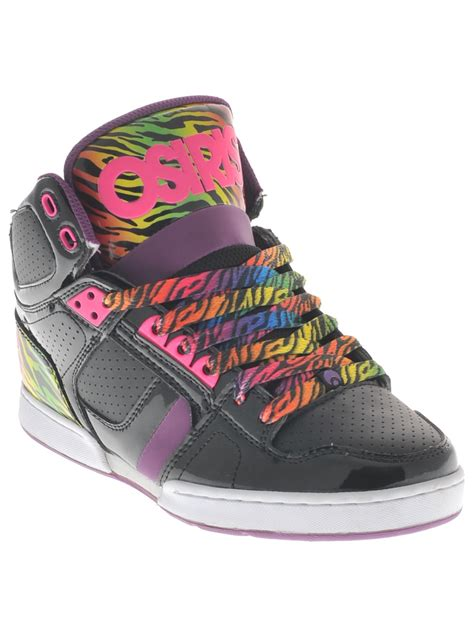 osiris shoes for osiris black purple rainbow nyc83 slim womens hi top shoe