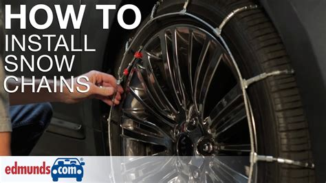 install snow chains youtube