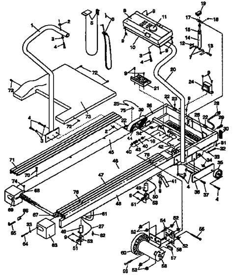 weslo weslo cadence  treadmill parts model wl