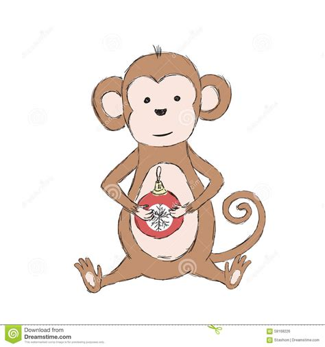 new year monkey ks1 2016 lunar new year monkey holding stock vector