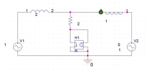 micro cap inductor voltage source loop found urgent pspice homework problem