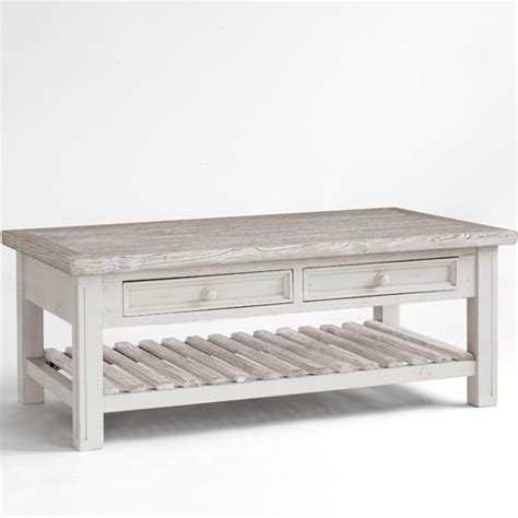 white wooden coffee tables opal coffee table in white pine farmhouse style 25390