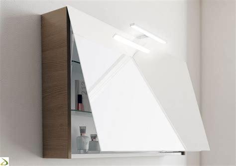 specchi bagno contenitori specchiera contenitore a un anta ribalta flat arredo