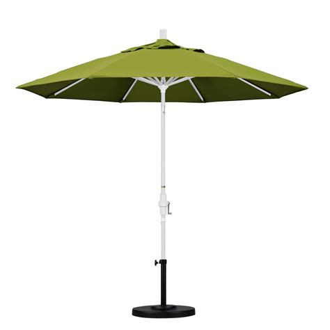 Olefin Patio Umbrella California Umbrella 9 Ft Aluminum Collar Tilt Patio Umbrella In Kiwi Olefin Gscu908170 F55