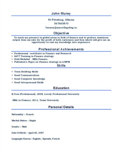 Sle Resume For Freshers In It Format by 100 Sle Hr Resumes For Freshers Hr Sle Resume