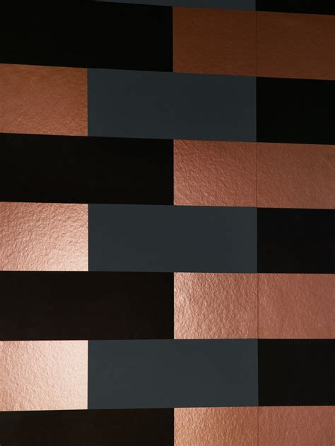wallpaper grey and copper block wallpaper copper burnish grey black monument