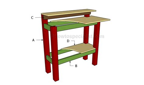 Stand Up Desk Plans Howtospecialist How To Build Step Build A Stand Up Desk