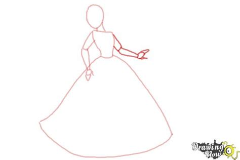 How To Draw Disney Princesses Drawingnow How To Draw A Princess Dress Step By Step Printable