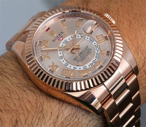 rolex sky dweller new gold colors on