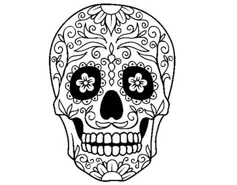 fotos de calaveras para imprimir dibujo de calavera mejicana para colorear dibujos net