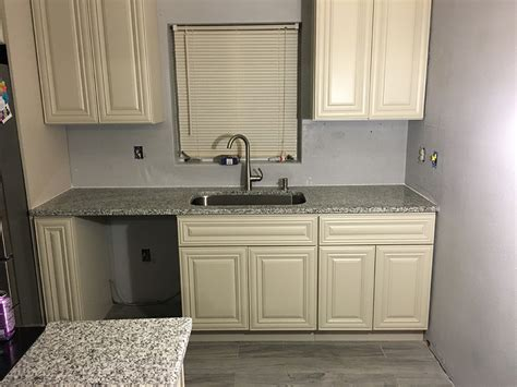 Luna Pearl Granite Countertops Installation