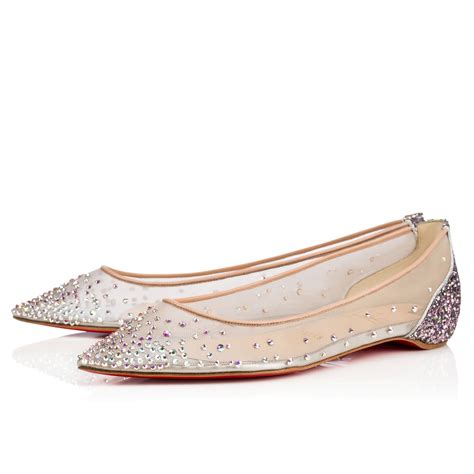flat christian louboutin shoes christian louboutin follies strass flat version ronsard