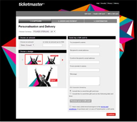 Redeem Ticketmaster Gift Card - evouchers mobile vouchers electronic gift cards