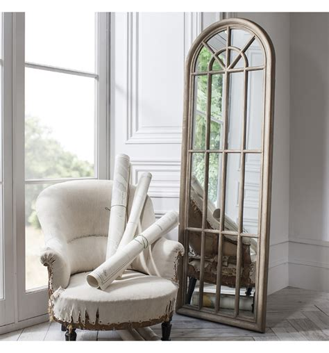 curtis large long arched shabby chic vintage wall floor window mirror 70 quot x24 quot ebay