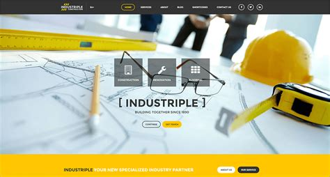 industrial theme industrial wordpress themes free premium templates