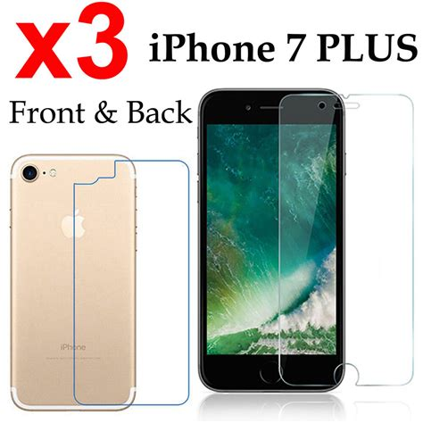 x3 anti scratch 4h pet screen protector apple iphone 7 plus front back ebay