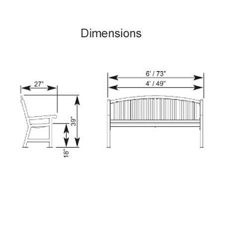 standard bench width park bench dimensions treenovation